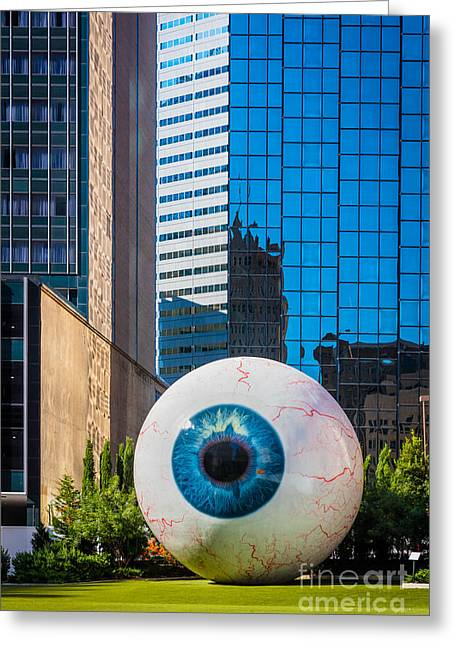 The Eye Greeting Card by Inge Johnsson