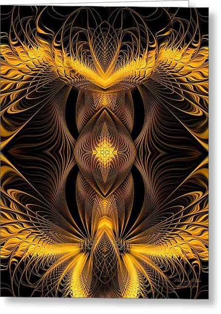 The Eye Of Eden Greeting Card by Gayle O