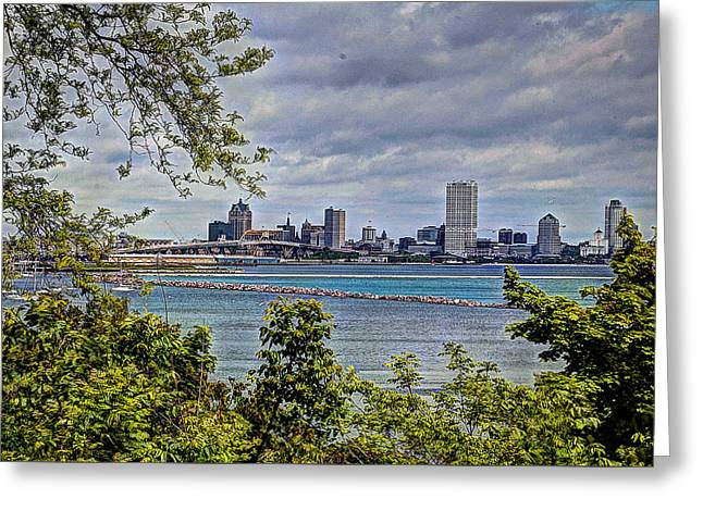 Sailboat Images Greeting Cards - The Eye of the City Greeting Card by Deborah Klubertanz
