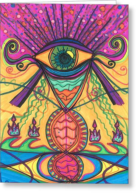 The Eye Opens... To A New Day Greeting Card by Daina White