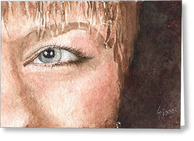 Protrait Greeting Cards - The Eyes Have It - Shelly Greeting Card by Sam Sidders