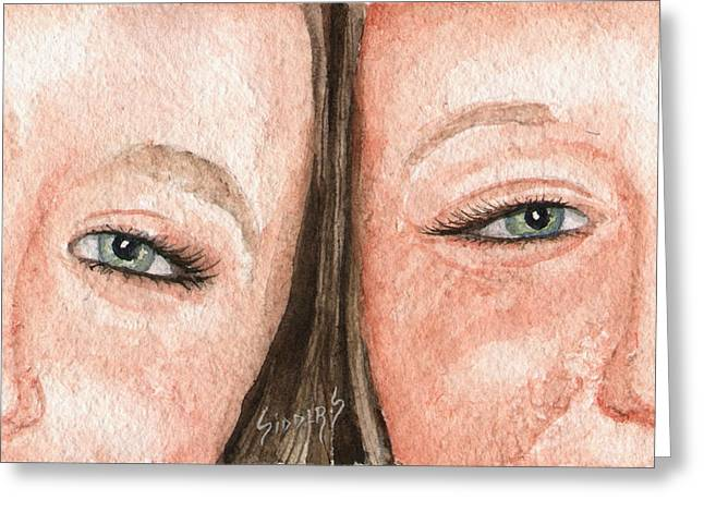 The Eyes Have It- K And K Greeting Card by Sam Sidders