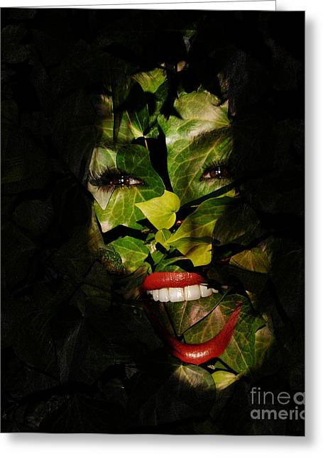 Composite Art Greeting Cards - The Eyes of Ivy Greeting Card by Clayton Bruster