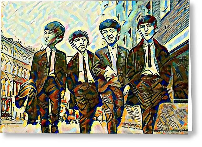 The Fab Four Greeting Card by Bill Cannon
