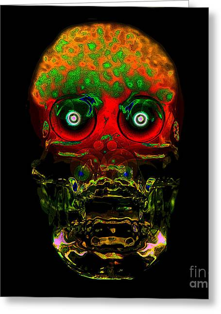The Face Of Man Greeting Card by David Lee Thompson