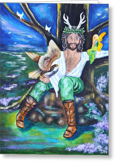Diana Haronis Greeting Cards - The Faery King Greeting Card by Diana Haronis