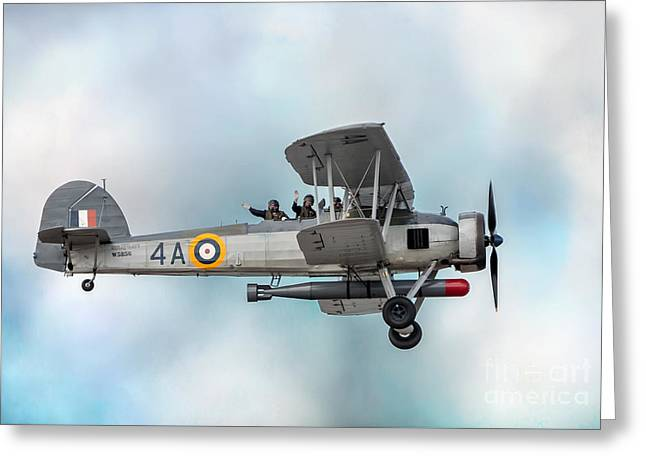 The Fairey Swordfish Greeting Card by Adrian Evans