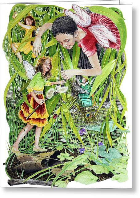 Faeries Greeting Cards - The Fairy Circle Greeting Card by Denny Bond