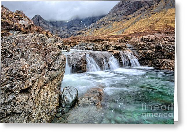 Fairies Photographs Greeting Cards - The Fairy Falls Greeting Card by Stephen Smith