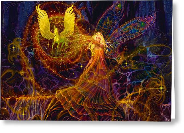 Steve Roberts Greeting Cards - The Fairy Spell Greeting Card by Steve Roberts