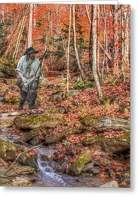 Muzzleloader Greeting Cards - The Fall Hunt Greeting Card by Randy Steele