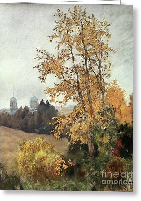 The Fall Greeting Card by Isaak Ilyich Levitan