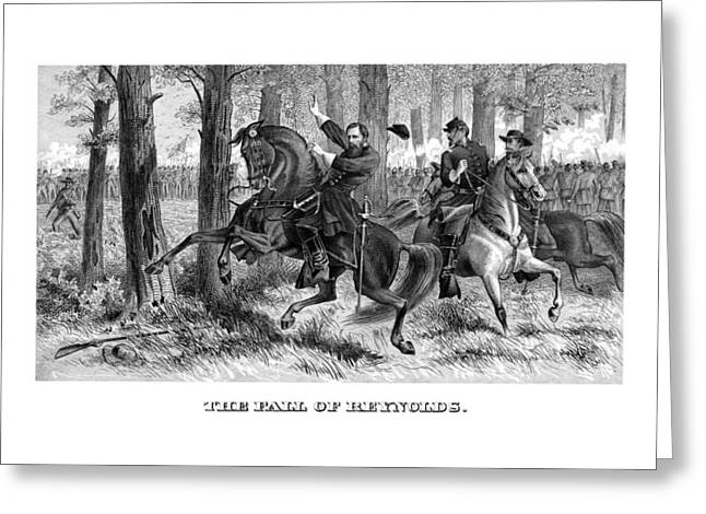 Civil War History Greeting Cards - The Fall Of Reynolds Greeting Card by War Is Hell Store