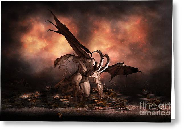 The Fallen Greeting Card by Shanina Conway