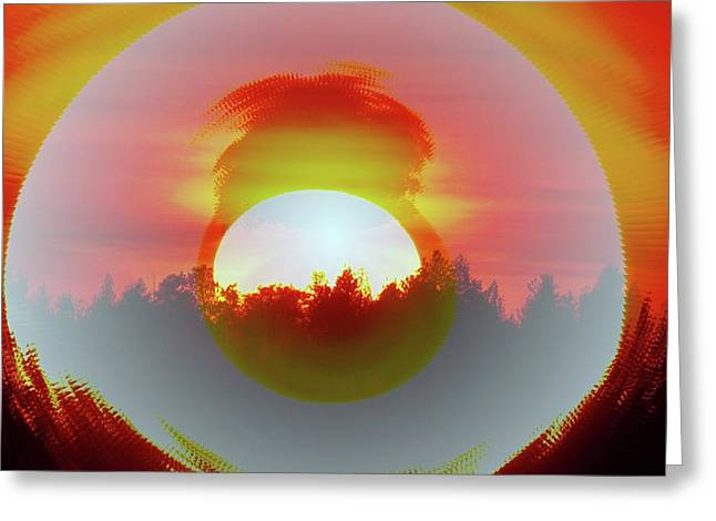 Fall Dusk Greeting Cards - The Falling Sun  Greeting Card by Jeff  Swan