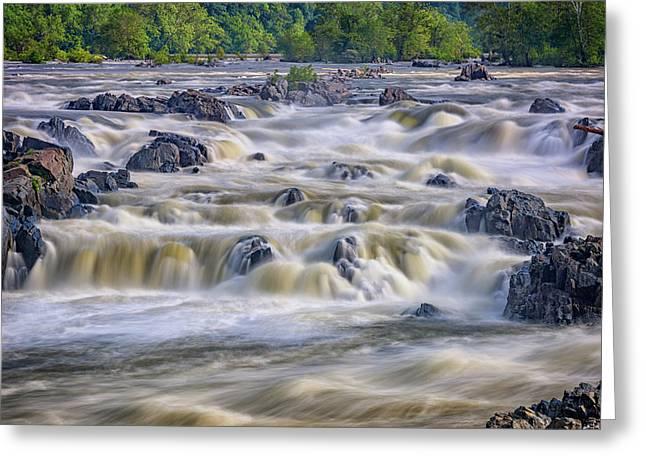 The Falls At Great Falls Park Greeting Card by Rick Berk