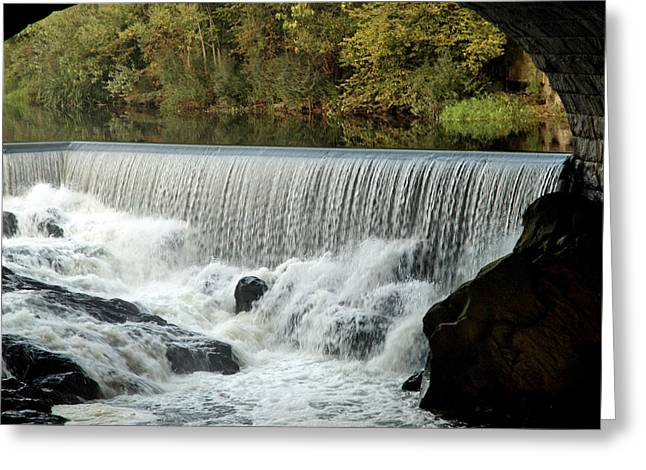 Blackstone River Greeting Cards - The Falls Greeting Card by Barry Doherty