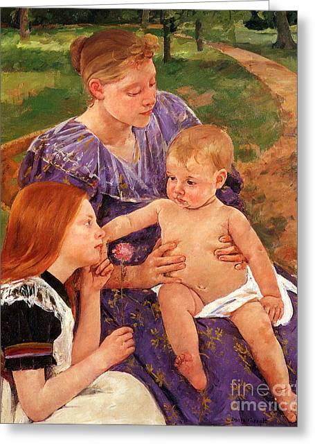 The Family Greeting Card by Cassatt