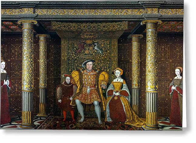 The Family Of Henry Viii    Greeting Card by Unknown