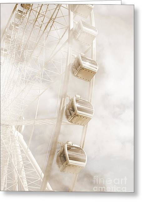 Amusements Greeting Cards - The Faraway Fair Greeting Card by Ryan Jorgensen
