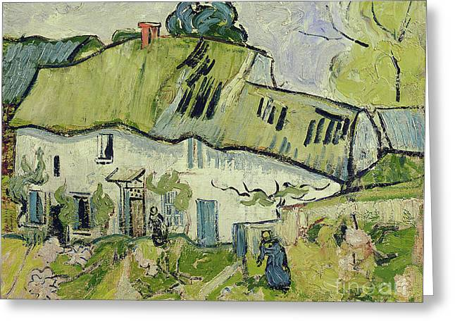 Vangogh Paintings Greeting Cards - The Farm in Summer Greeting Card by Vincent van Gogh