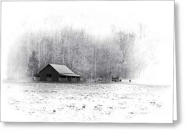 Tennessee Barn Greeting Cards - The Farm - Large Greeting Card by Desmond Lake