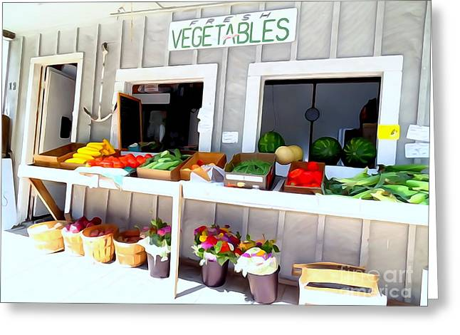 Farmstand Greeting Cards - The Farm Stand Greeting Card by Ed Weidman