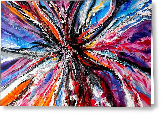 Wow Paintings Greeting Cards - The Feather headress Greeting Card by Expressionistar Priscilla-Batzell