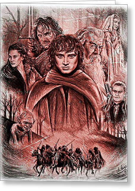 The Fellowship Frost Version Greeting Card by Andrew Read