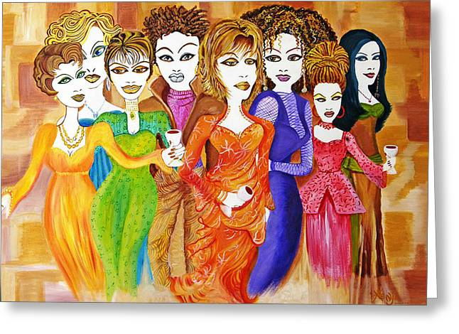 Caucasion Greeting Cards - The Female Factor Greeting Card by Kenji Tanner