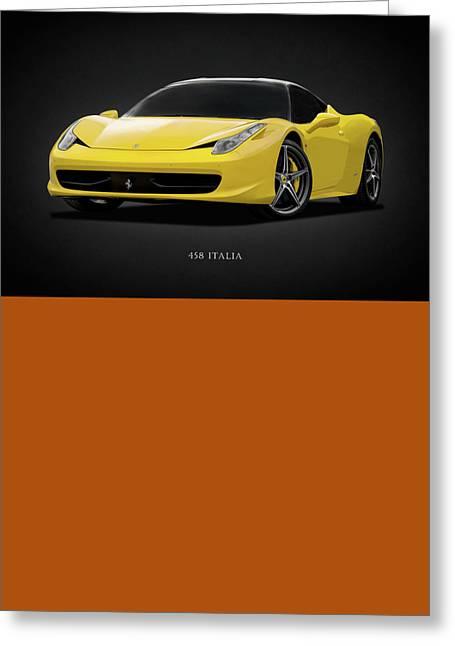 Transport Greeting Cards - The Ferrari 458 Greeting Card by Mark Rogan