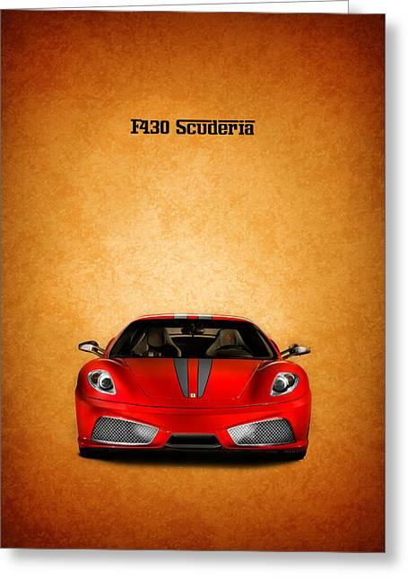 Red Ferrari Greeting Cards - The Ferrari F430 Greeting Card by Mark Rogan