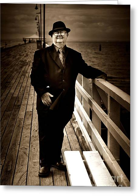Sea Platform Greeting Cards - The Ferryman Greeting Card by Ryan Jorgensen