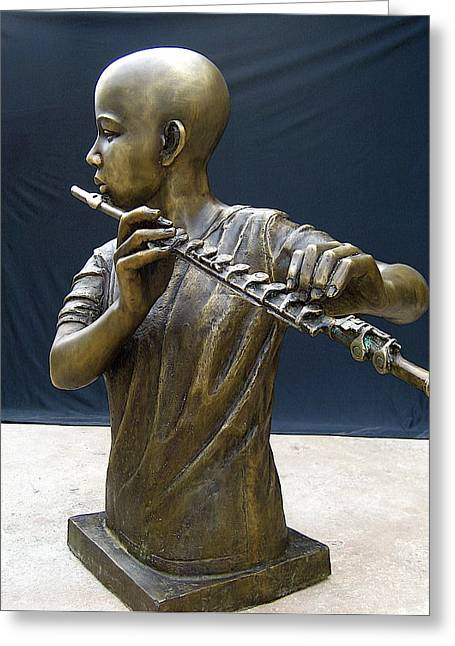 Recently Sold -  - African-americans Sculptures Greeting Cards - The Fifer Greeting Card by Curtis James