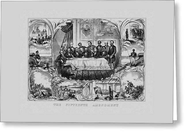 The Fifteenth Amendment  Greeting Card by War Is Hell Store