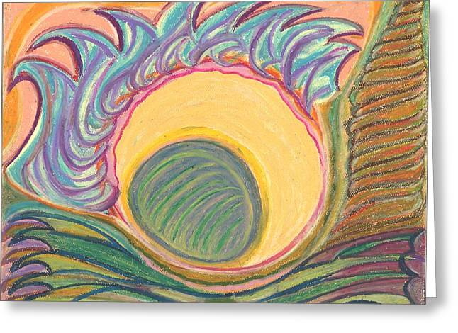 Mandalas Pastels Greeting Cards - The Fifth Portal Greeting Card by Claudia Cion