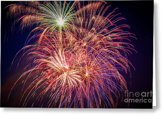 Pyrotechnics Greeting Cards - The Finale Greeting Card by Lynn Sprowl