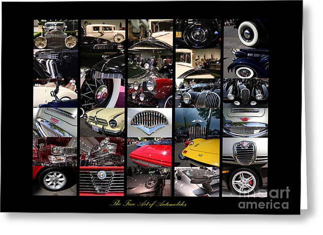 The Fine Art of Automobiles Greeting Card by Wingsdomain Art and Photography