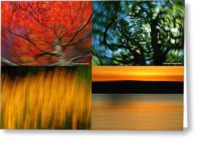 Fotografie Greeting Cards - The Fine Art of Camera Panning Greeting Card by Juergen Roth