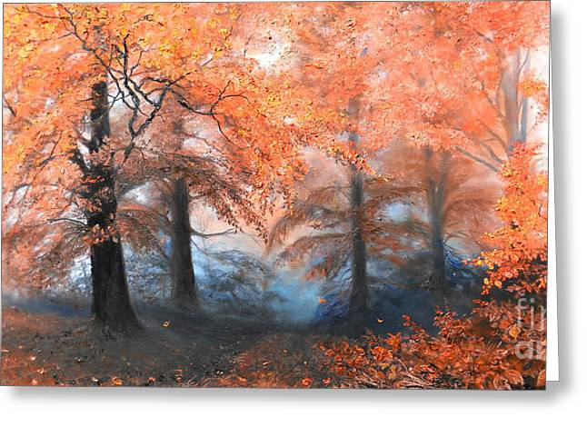 Landscape Framed Prints Greeting Cards - The Fire Greeting Card by Sorin Apostolescu