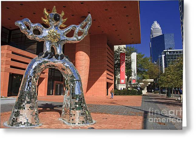 Charlotte Art Museums Greeting Cards - The Firebird at the Bechtler Museum in Charlotte Greeting Card by Jill Lang