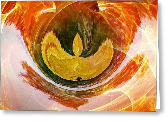 The Firebird Greeting Card by Contemporary Art