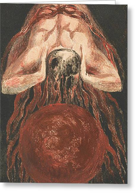 The First Book Of Urizen, Plate 16 Greeting Card by William Blake