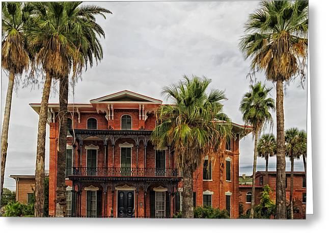 The First Brick House Of Texas - Ashton Villa Galveston Greeting Card by Mountain Dreams