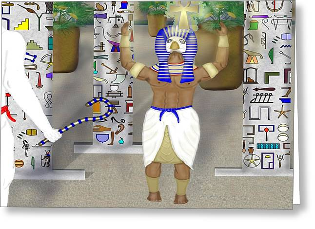 Horus Digital Art Greeting Cards - The First Cross Greeting Card by Mike Sexton