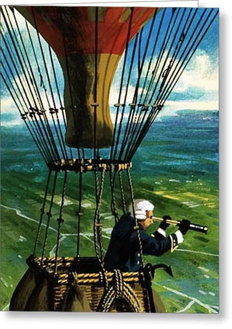 The First Military Mission From The Air Greeting Card by Wilf Hardy