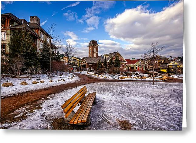 Winter Road Scenes Digital Greeting Cards - The First Snow Greeting Card by Jeff S PhotoArt