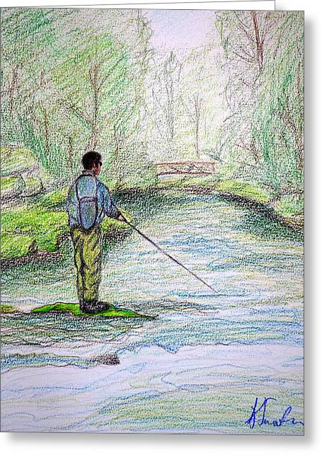 The Fisherman Greeting Card by Kirsten Sneath