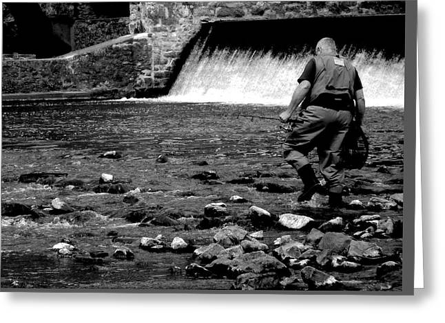 Raritan Greeting Cards - The Fisherman Greeting Card by Val Arie
