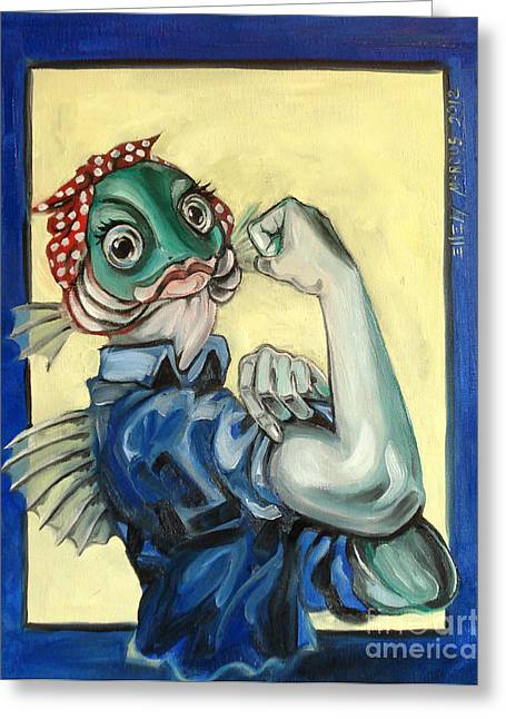 Can Do Greeting Cards - The Fishes Can Do It Greeting Card by Ellen Marcus